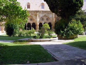 cloister courtyard garden by aneolus