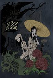 Ameonna Yokai +colored+ by aneolus