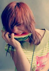 I eat you my waterphonemelon. by Moosiatko