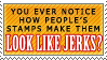 STAMPS ARE FOR JERKS by heysawbones