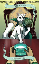 Page of Cups - The White Cat by ninniku