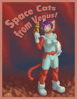 Space Cats from Venus! by archaemic