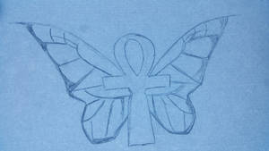 Ankh Butterfly - wip by UberAwesone