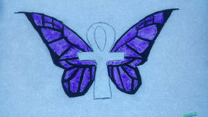 Ankh Butterfly - update by UberAwesone