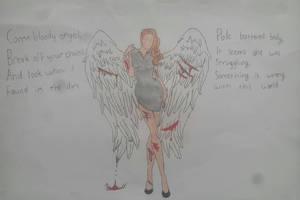 Bloody Angel by UberAwesone