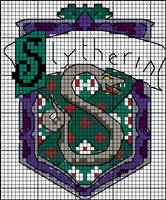 Slytherin crest pattern by Astraan