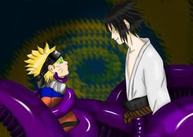 Naruto and Sasuke (naga) by Silrath