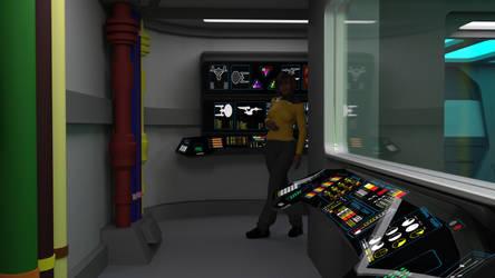 23rd Century Engineering Monitor Room by ashleytinger