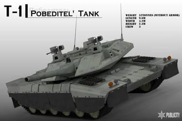 T-1 Pobeditel' tank by Zaslon