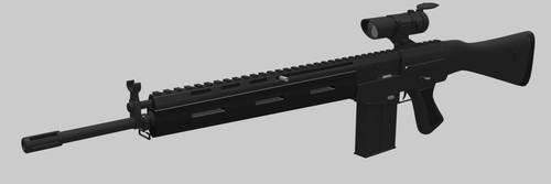 Original Assault rifle WIP by Zaslon
