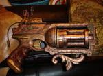 Steampunk Pistol w Laser Sight by DrJubal