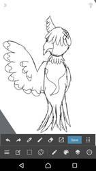 o h it's a owl character  by Ki-Akushu-Bakudan