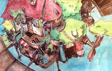 Howl's Moving Castle - Colored by ShanellaAsh