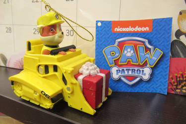 Paw Patrol Rubble Christmas Ornament by Codetski101