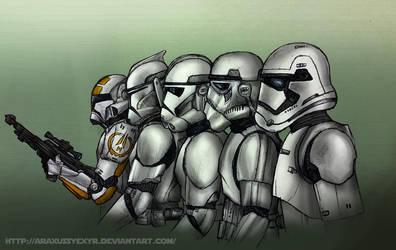 Stormtrooper armor evolution by AraxussYexyr