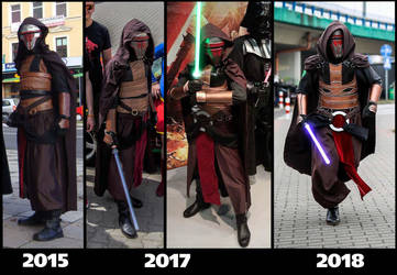 Revan Costume Evolution by AraxussYexyr