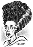 The Bride of Frankenstein by mengblom