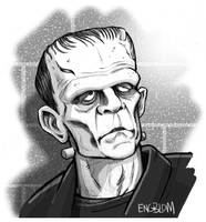 The Frankenstein Monster: Sunlight by mengblom