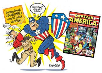 Captain America vs. Hitler by mengblom