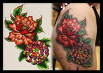 Peony Chrysanthemum Tattoo by Coconut-CocaCola