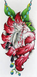 Nine Tailed Fox by Coconut-CocaCola