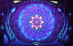 Mandala under blacklight by TomLenz