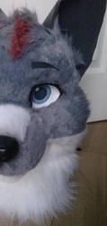 Wolf fursuit head WIP by InerriCreatures