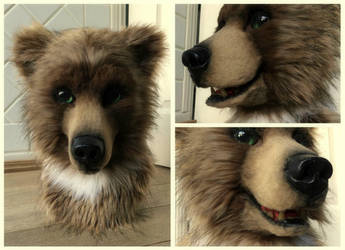 Bear fursuit Head by InerriCreatures