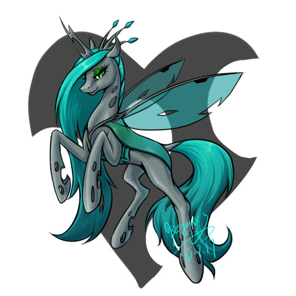 queen chrysalis by BegasusTiuBe