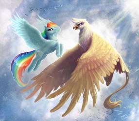 Gilda and Rainbow by BegasusTiuBe