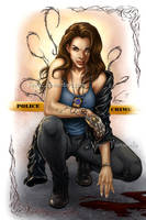 My cop turned Witchblade by VinRoc
