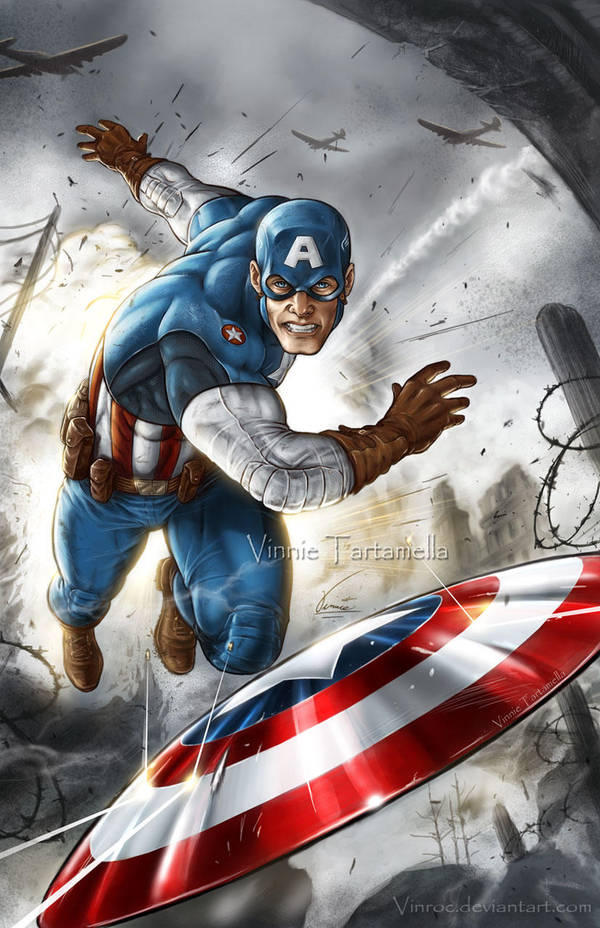 Captain America WWII setting by VinRoc