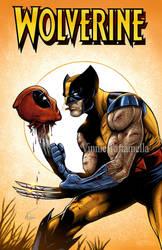 Wolverine DeadPool by VinRoc