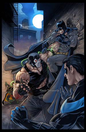 Bane vs Batman by VinRoc