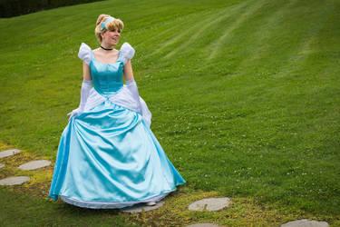 Cinderella ready for the Ball dance. by J-Kameko