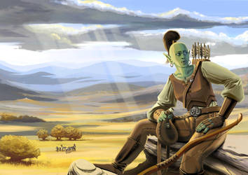 Orc hunter by Marutanielle