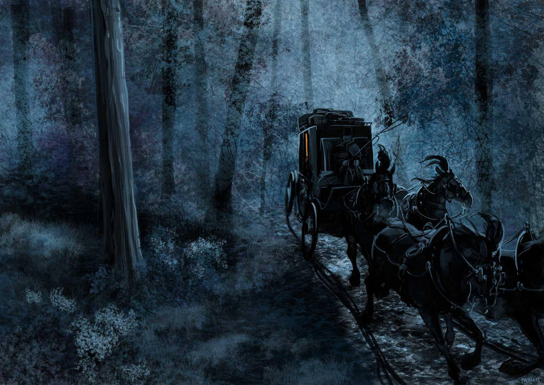 Night carriage by Marutanielle