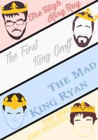 Achievement Hunter Kings Poster by GingerJMEZ