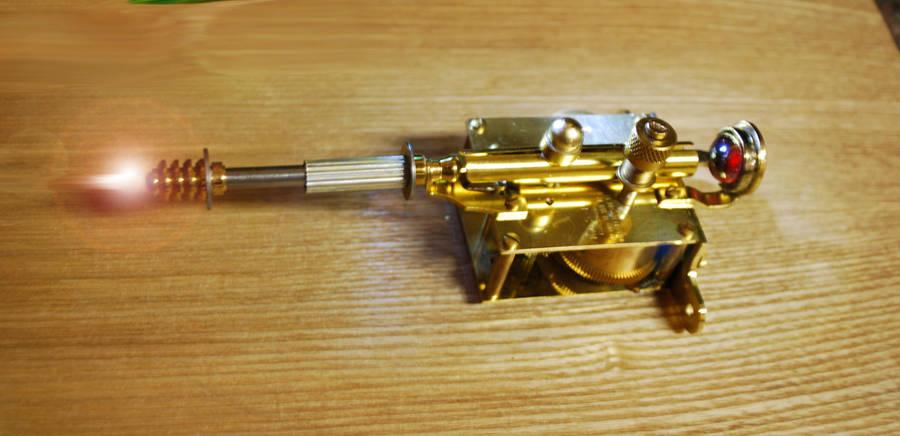Steampunk Lazer Canon WIP by pinochioO-5