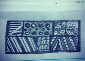 quick zentangle in my notebook by MsOlivia