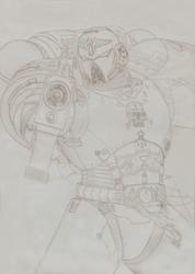 Blood Angel Sergeant by ErastusMercy