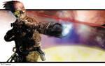 scifi sniper by artist Tom Kelly by TomKellyART