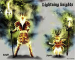 lightning knight by artist Tom Kelly by TomKellyART