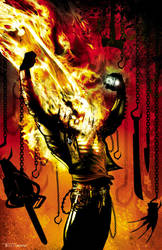 ghostrider commission by artist Tom kelly by TomKellyART
