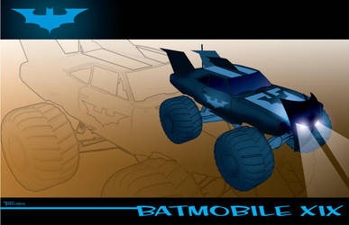 Batmobile XIX by artist Tom Kelly by TomKellyART