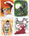 Marvel Greatest Heroes cards 18 by TomKellyART