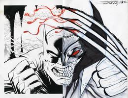 Bat Wolvie  by TomKellyART