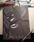 Batman lego by artist Tom Kelly by TomKellyART