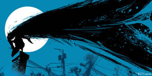 Batman blues by artist Tom Kelly by TomKellyART