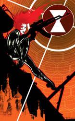 Black widow Sniper by TomKellyART